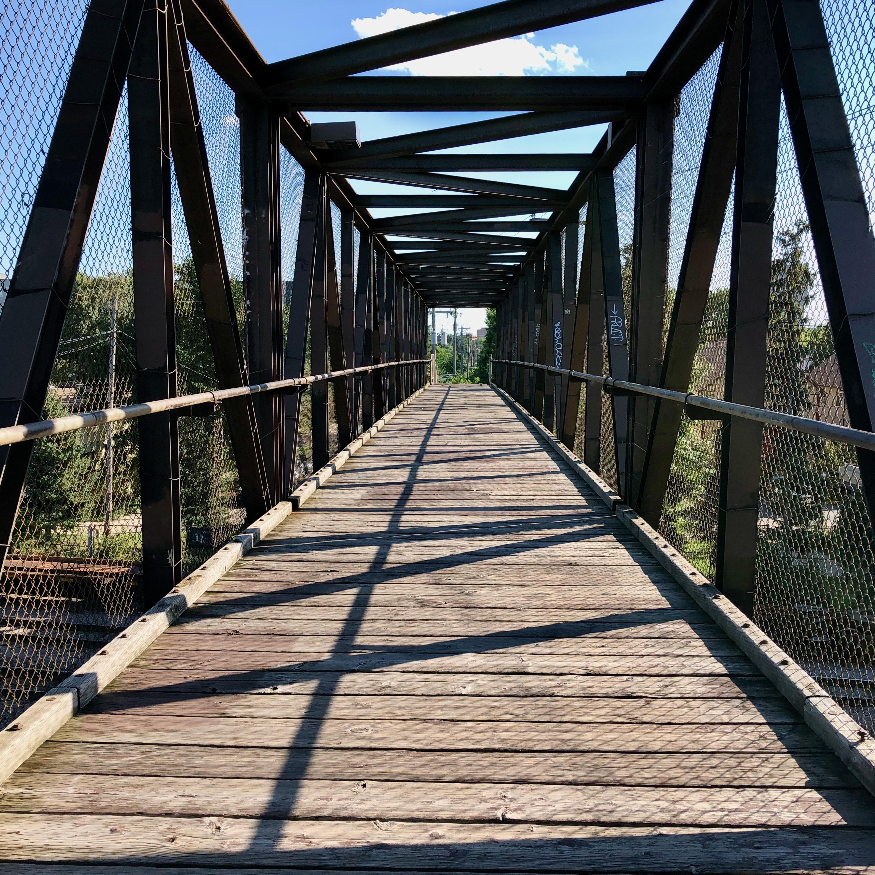 Empty pedestrian bridge